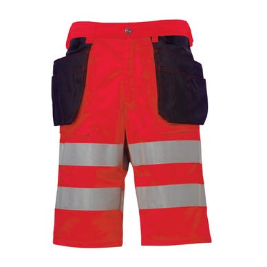 BRIDGEWATER HI VIS CLASS 2 CONSTRUCTION SHORTS