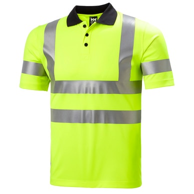 ADDVIS HIGH VIS 4-WAY STRETCH WORK POLO