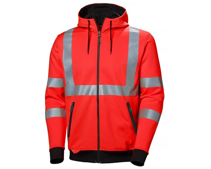 ADDVIS SOFT FEEL HIGH VIS ZIP HOODIE