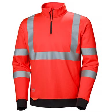 ADDVIS HI VIS HALF ZIP SWEATER