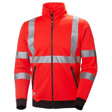 ADDVIS HI VIS ZIP SWEATERSHIRT
