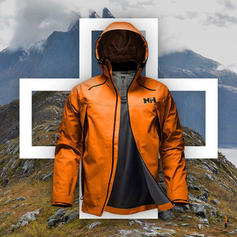 e142268d32e132 Odin 9 Worlds hiking Jacket with mountain background