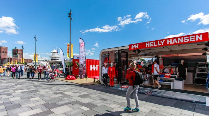 The Helly Hansen pop-up store on the docks of Aker Brygge in Oslo