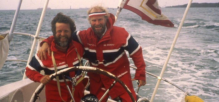 The Berge Viking Crew sported in the original version of the Salt Jacket