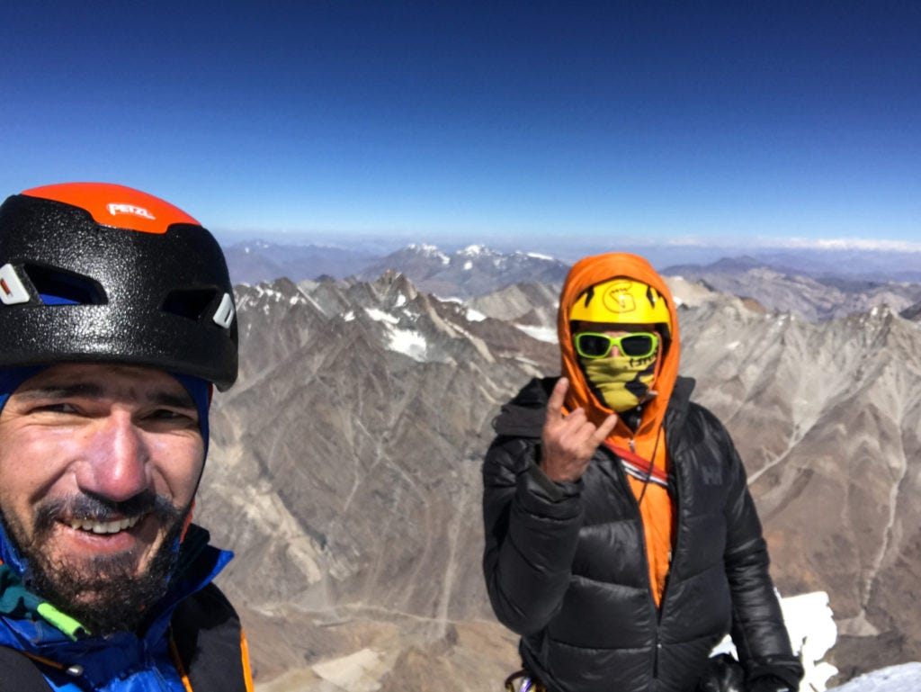 Tino and Alan at the summit of Rungofarka