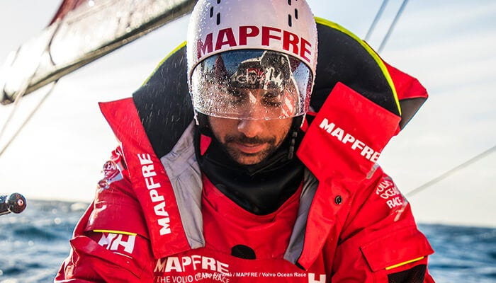 Helly Hansen modified MAPFRE's collars before the race