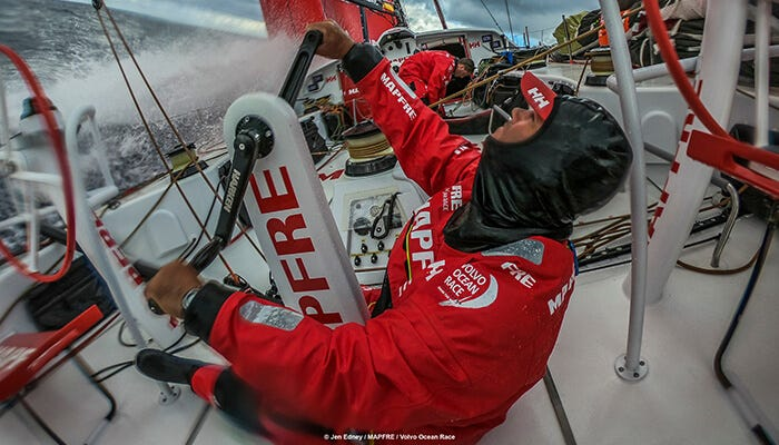 MAPFRE and the Helly Hansen racing gears