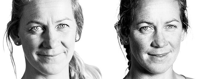 Sophie before and after the toughest leg of the Volvo Ocean Race