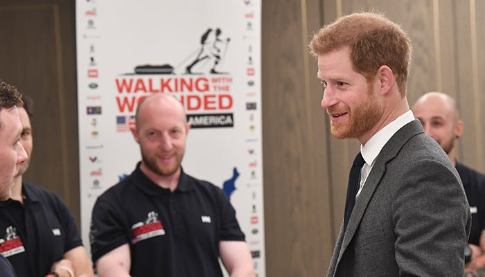 Prince Harry Walking With the Wounded