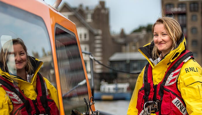 RNLI volunteer with the new RNLI kit