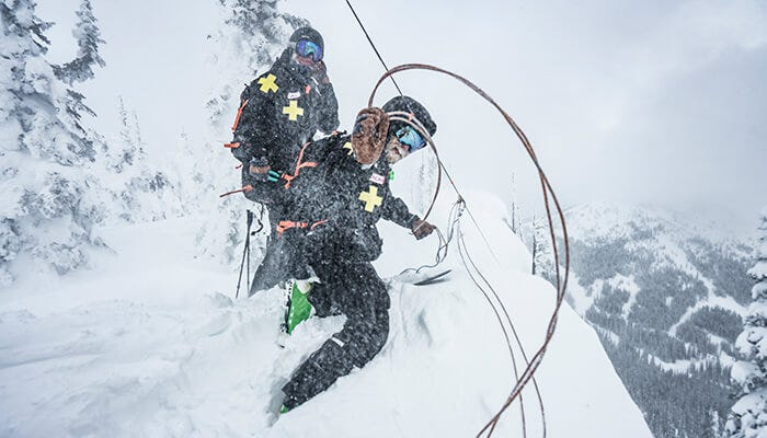 Professional ski patrollers