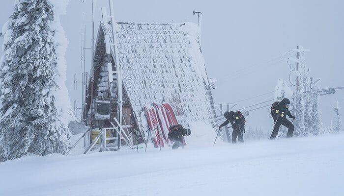 Ladies on the RED ski patrol