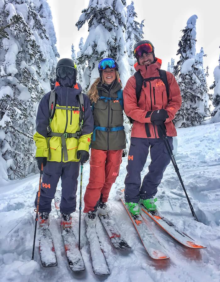 Dennis Risvoll, Kaylin Richardson, and Simon Hillis at Red Mountain