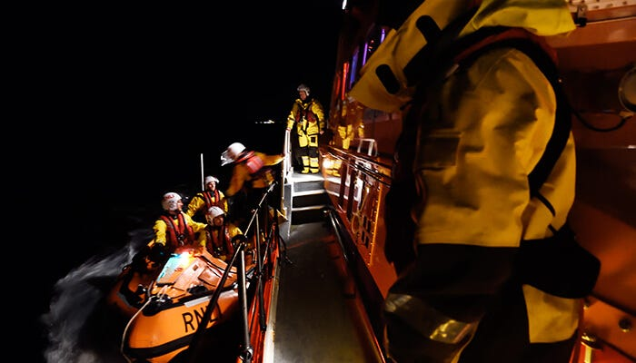 Trained and committed RNLI volunteers to save lives