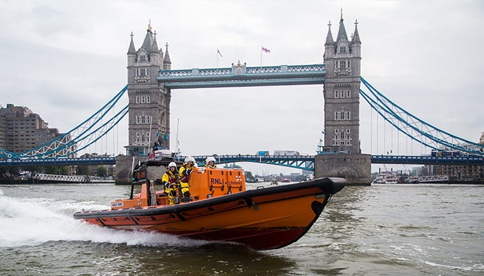 RNLI Lifeboat Tower Bridge London