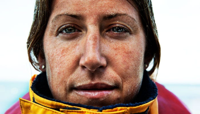 Close up portrait shot of RNLI volunteer, Becky Mack