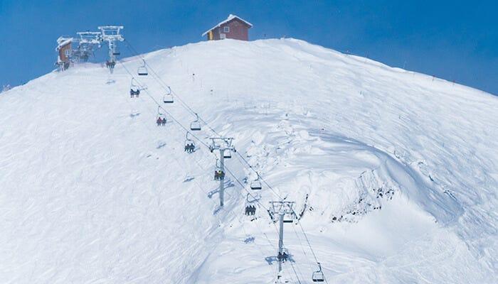 top of a ski lift in fernie