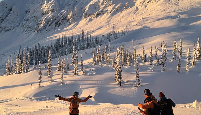 group of ski patrollers