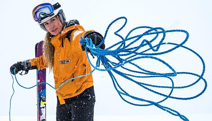 olivia ski patroller throwing ropes
