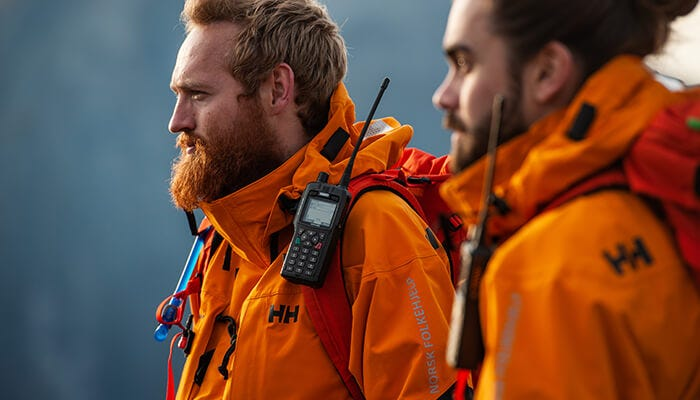profiles of men on rescue mission